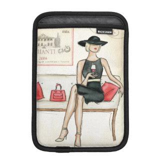 Housse Pour iPad Mini Femme buvant du vin rouge