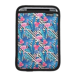 Housse Pour iPad Mini Flamant et paumes sur le motif géométrique