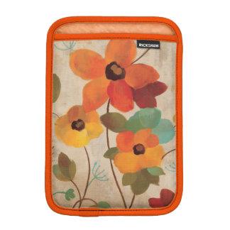 Housse Pour iPad Mini Fleurs colorées sur un arrière - plan blanc