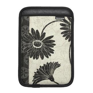 Housse Pour iPad Mini Fleurs noires et blanches