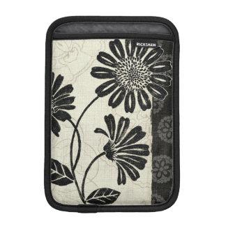 Housse Pour iPad Mini Floral contemporain en noir et blanc