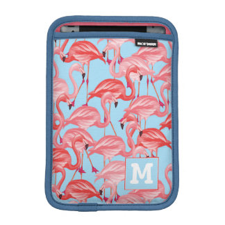 Housse Pour iPad Mini Les flamants roses lumineux sur le bleu | ajoutent