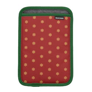 Housse Pour iPad Mini Motif de flocon de neige d'or de Noël, BG