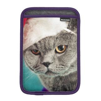 Housse Pour iPad Mini Noël gris de chat - chat de Noël - chat de chaton