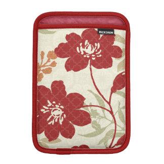 Housse Pour iPad Mini Ombres florales en rouge et orange
