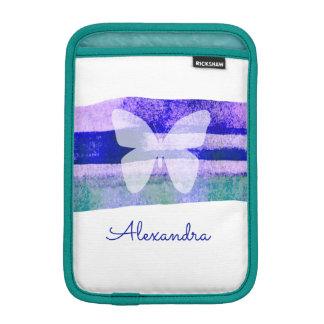 Housse Pour iPad Mini Papillon d'aquarelle d'indigo personnalisé