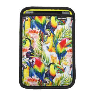 Housse Pour iPad Mini Perroquets et palmettes