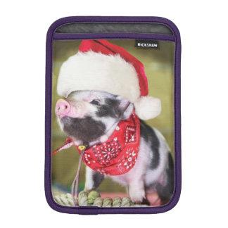 Housse Pour iPad Mini Porc le père noël - porc de Noël - porcelet