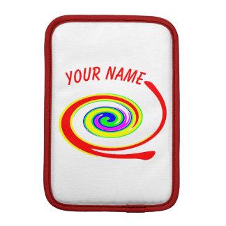 Housse Pour iPad Mini Remous multicolore. Ajoutez votre texte