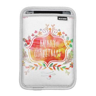 Housse Pour iPad Mini Rétro Joyeux Noël d'aquarelle