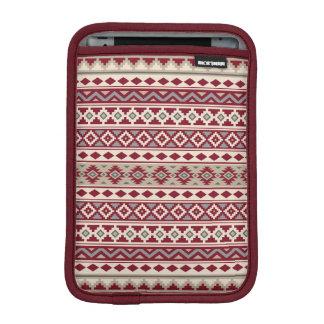 Housse Pour iPad Mini Sable crème d'essence de motif de gris rouges