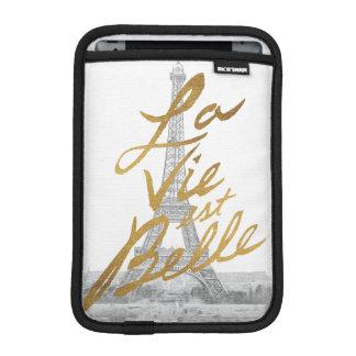 Housse Pour iPad Mini Tour Eiffel avec l'écriture d'or