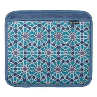 Housse Pour iPad Motif abstrait dans bleu et gris