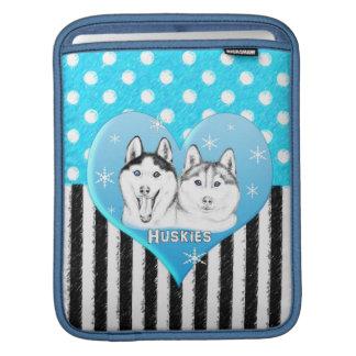 Housse Pour iPad Motif bleu de chiens de traîneau