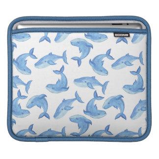 Housse Pour iPad Motif de baleine bleue d'aquarelle