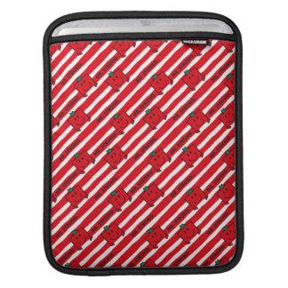 Housse Pour iPad Motif de rayures de rouge de M. Strong |