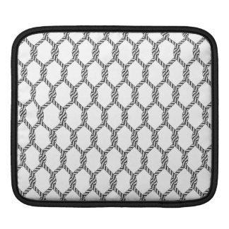 Housse Pour iPad Motif nautique noir et blanc de corde