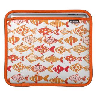 Housse Pour iPad Motif orange lumineux de poissons d'aquarelle