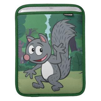 Housse Pour iPad Ondulation grise d'écureuil de Rick | de garde