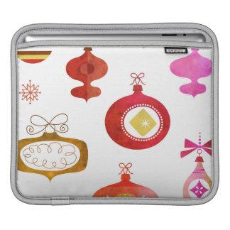 Housse Pour iPad Ornements rouges audacieux de Waterclor