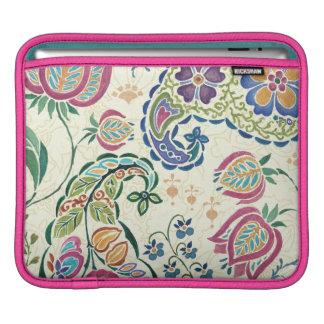 Housse Pour iPad Paon décoratif et fleurs colorées
