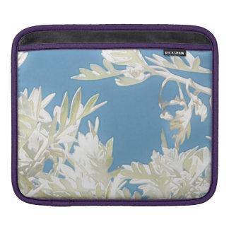 Housse Pour iPad Plantes blancs au-dessus de ciel bleu