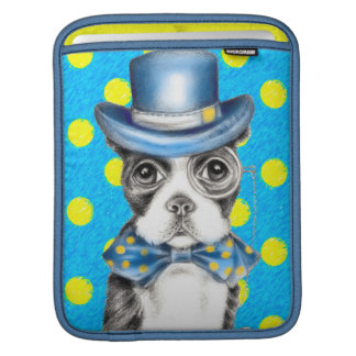 Housse Pour iPad Point de polka de Boston Terrier