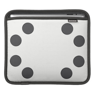 Housse Pour iPad Points gris-foncé Checkered