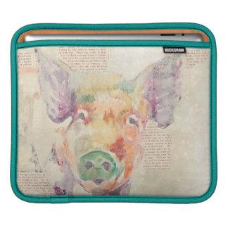 Housse Pour iPad Porc de collage de ferme d'aquarelle