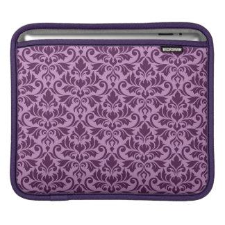 Housse Pour iPad Prune de motif de damassé de Flourish grande sur