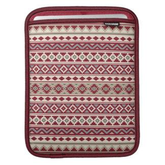 Housse Pour iPad Sable crème d'essence de motif de gris rouges