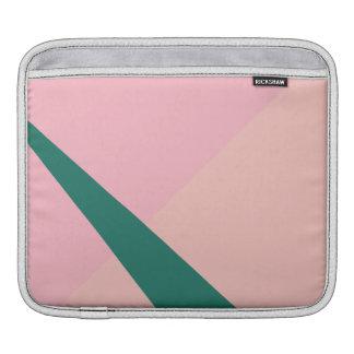 Housse Pour iPad Vert géométrique élégant de pêche de rose en