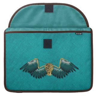 Housse Pour Macbook Ailes mécaniques de Steampunk turquoises