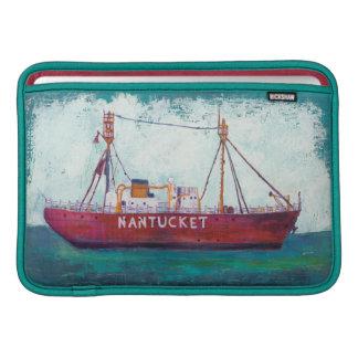 Housse Pour Macbook Air Bateau-phare côtier de l'art | Nantucket