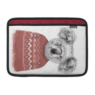 Housse Pour Macbook Air Koala d'hiver (rouge)