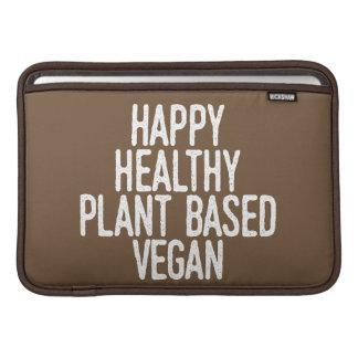 Housse Pour Macbook Air Le plante sain heureux a basé le végétalien