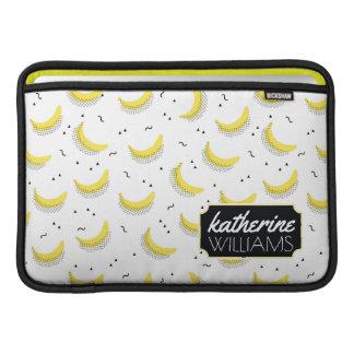 Housse Pour Macbook Air Les bananes géométriques | ajoutent votre nom