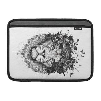 Housse Pour Macbook Air Lion floral (noir et blanc)