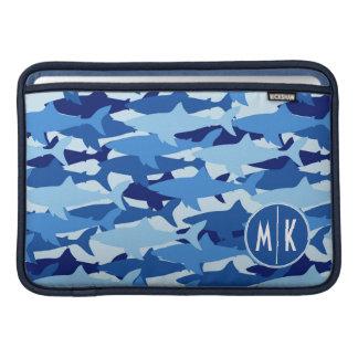 Housse Pour Macbook Air Monogramme du motif | de requin bleu