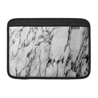Housse Pour Macbook Air Motif noir et blanc moderne de marbre de mode