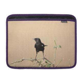 Housse Pour Macbook Air Petit oiseau noir sur la branche de Bush