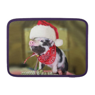 Housse Pour Macbook Air Porc le père noël - porc de Noël - porcelet