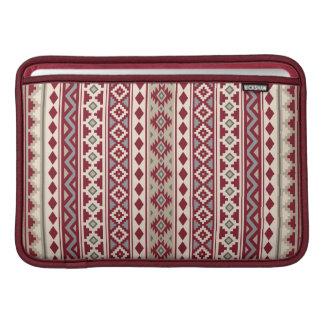Housse Pour Macbook Air Sable crème de gris rouges aztèques de l'essence V