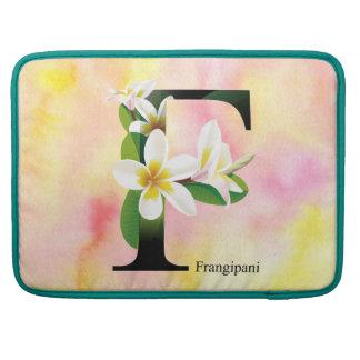 Housse Pour Macbook Alphabet de fleurs avec l'arrière - plan