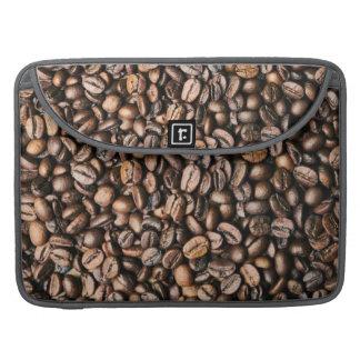 Housse Pour Macbook Arrière - plan de grain de café de Brown
