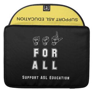 Housse Pour Macbook ASL pour entièrement l'éducation d'ASL de soutien