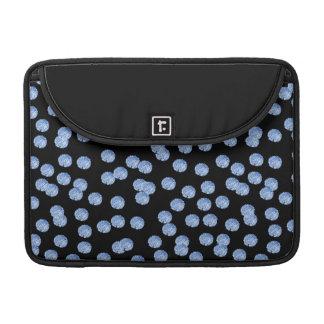 """Housse Pour Macbook Douille 13"""" de Macbook de pois bleu pro"""