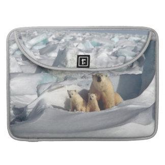 Housse Pour Macbook Douille arctique de Macbook de faune de CUB d'ours