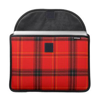 Housse Pour Macbook Douille rouge et noire de MacBook Pro de tartan de