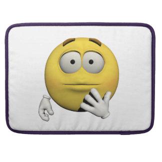 Housse Pour Macbook Émoticône étonnée